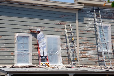 Prepping for exterior painting in Hanover  PAPainting Your Homes Exterior   ASJ. Exterior Painting Pictures Of Homes. Home Design Ideas