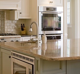 This beautiful kitchen has a granite countertop
