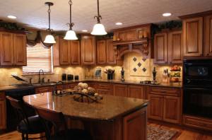 Beautiful granite countertop in kitchen