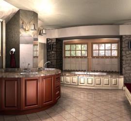 Custom Bathroom Illustration